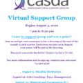 CASDA Virtual Support Group August Schedule